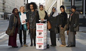 The anti-FGM delegation, including Fahma Mohamed, centre